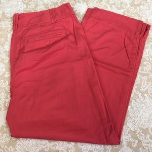 LOFT Julie Catalina Crimson Red Capri Pants
